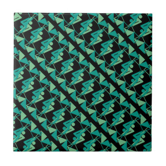Modern Mirrored Geometric & Abstract Pattern Tile