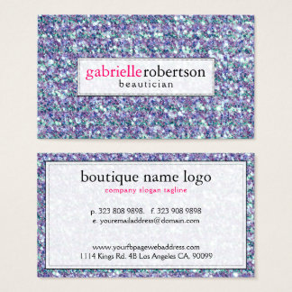 Modern Mixed Colors Glitter & Sparkles Business Card