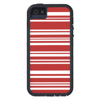 Modern Mixed Red and White Stripes iPhone 5 Cover
