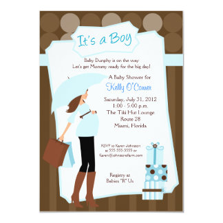 Modern Mom Baby Shower Invitation - Baby Boy!