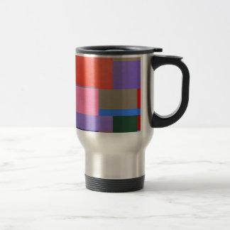 Modern/Mondrian Art Travel Mug