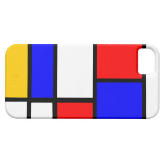 Modern Mondrian design iPhone 5 Covers