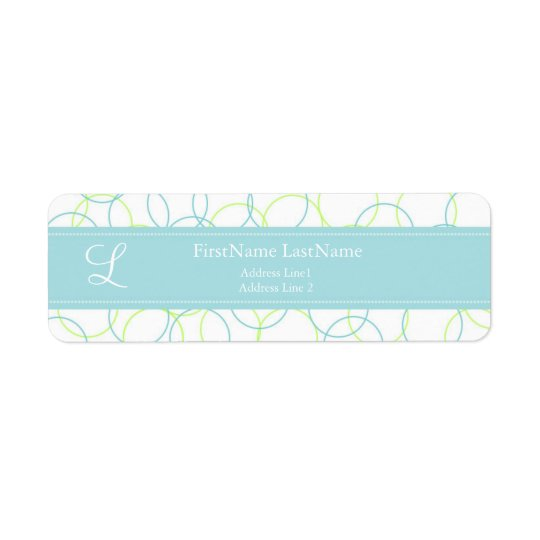 Modern Monogram Address Label ::Purple::