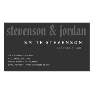 Modern Monogram Attorney Law Firm Business Card