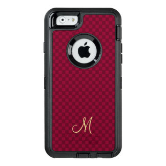 Modern Monogram Check Pattern OtterBox iPhone Case