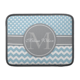 Modern Monogram Chevron Zigzag Stripes Sleeve For MacBook Air