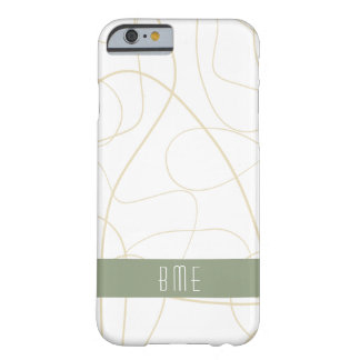 Modern Monogram Design Barely There iPhone 6 Case