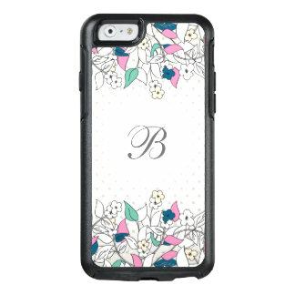 Modern Monogram Floral OtterBox iPhone 6/6s Case