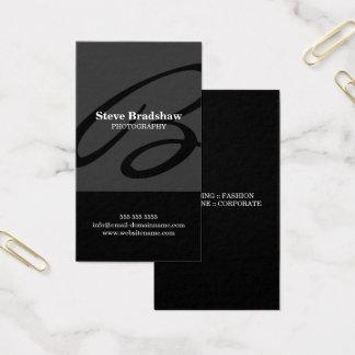 Modern Monogram Gray Business Card