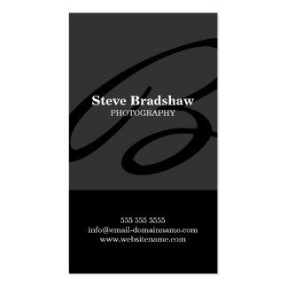 Modern Monogram Grey Business Cards