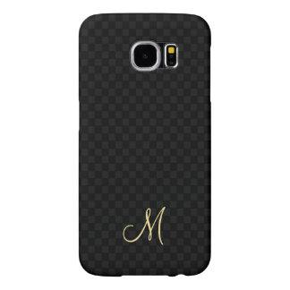 Modern Monogram Pattern Samsung Galaxy Hard Case Samsung Galaxy S6 Cases
