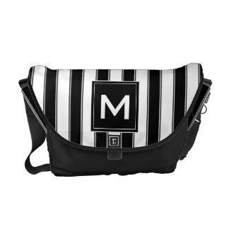 Modern Monogram Stripes Bag, Black Commuter Bags