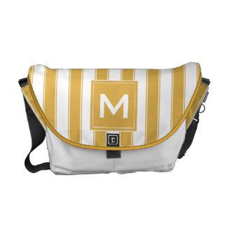 Modern Monogram Stripes Bag Commuter Bag