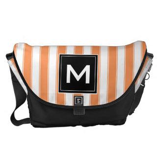 Modern Monogram Stripes Bag Courier Bags