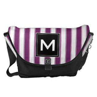 Modern Monogram Stripes Bag Messenger Bag