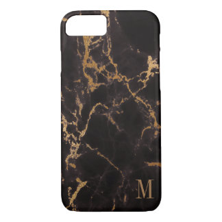 Modern Monogrammed Gold Glitter iPhone 7 Case
