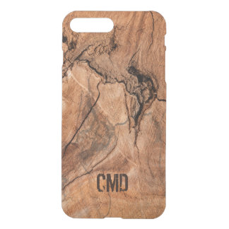 Modern Monogrammed Imitation Wood With Knots iPhone 7 Plus Case