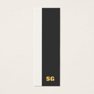 Modern Monogrammed Mini Business Card