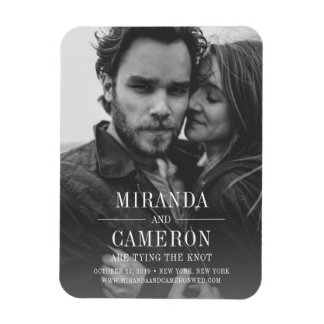 Modern Mood | Photo Save the Date Magnet