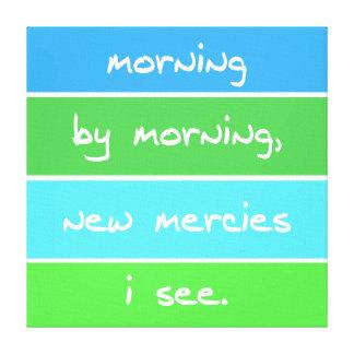 Modern Morning By Morning Christian Song Lyrics Canvas Print