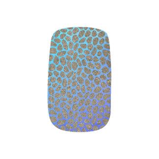 Modern Mosaic Animal Print Minx Nail Art