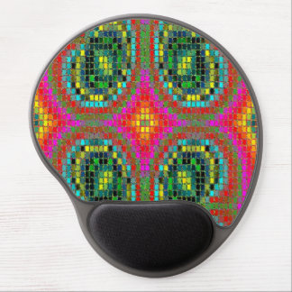 Modern mosaic colorful pattern gel mouse pads