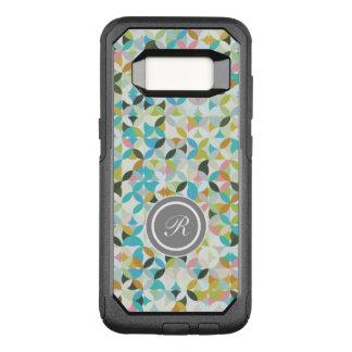 Modern Mosaic Monogram OtterBox Commuter Samsung Galaxy S8 Case
