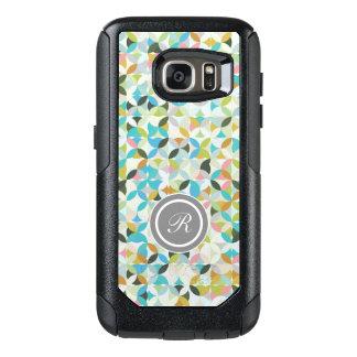 Modern Mosaic Monogram OtterBox Samsung Galaxy S7 Case