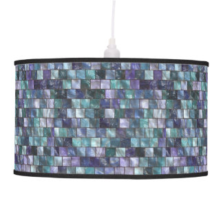 Modern Mosaic Tiles Pattern Hanging Lamp