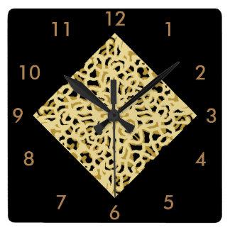 Modern Mosaic Wall Clock- Cream/Beige/Black Wallclock