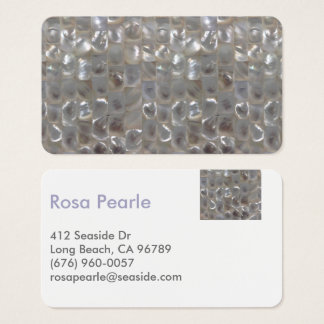 Modern Mother of Pearl Contact Card