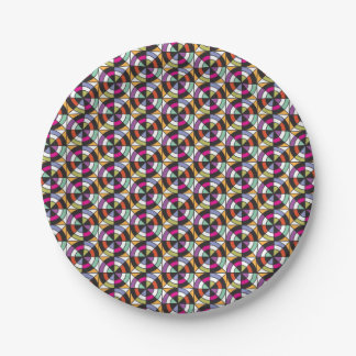 Modern Motion Quilt Pattern Paper Plate