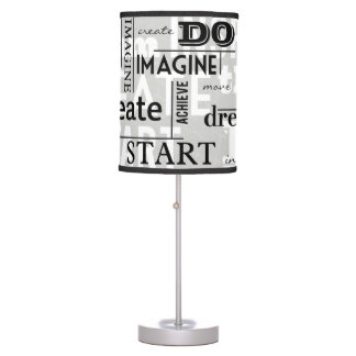 Modern Motivational Words Table Lamp