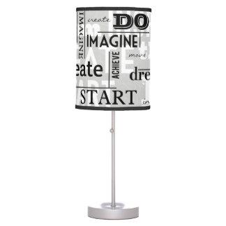 Modern Motivational Words Table Lamp