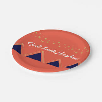 Modern Mountain Plate - Coral 7 Inch Paper Plate
