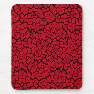 Modern mousepad, black, red, cracked, mouse pad