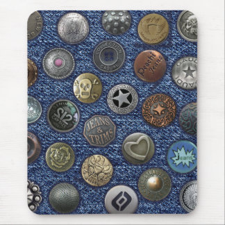 Modern mousepad blue jeans with buttons