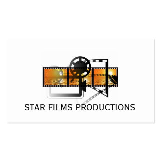 Modern Movie Director Film Producer Double-Sided Standard Business Cards (Pack Of 100)