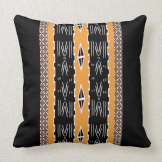 Modern Mud Cloth Design Throw Pillow