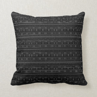 Modern Mudcloth Throw Pillow