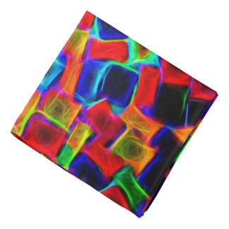 Modern Multi Color Neon Abstract Pattern Bandana