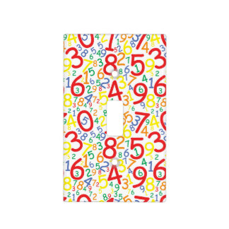 modern multi color numbers light switch plate
