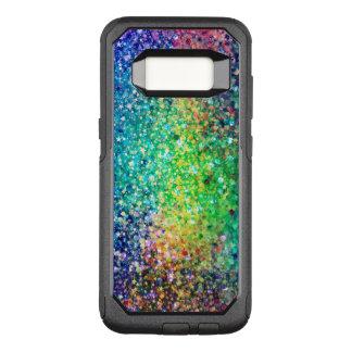 Modern Multicolor Glitter Texture OtterBox Commuter Samsung Galaxy S8 Case