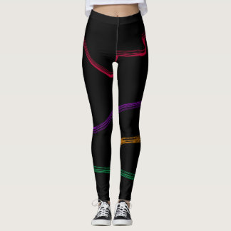 Modern Multicolor Wonderland Leggings