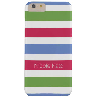 modern multicolored monogram barely there iPhone 6 plus case