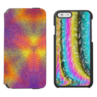 Modern multicolored pattern incipio watson™ iPhone 6 wallet case