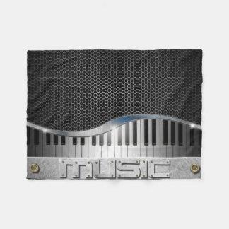 Modern Music Small Fleece Blanket