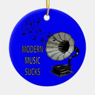 Modern Music Sucks Phonograph Ceramic Ornament