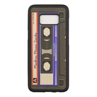 Modern Music Sucks Retro Compact Cassette Funny Carved Samsung Galaxy S8 Case