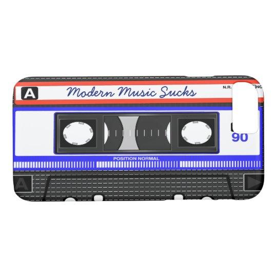 Modern Music Sucks Retro Compact Cassette Funny iPhone 8/7 Case